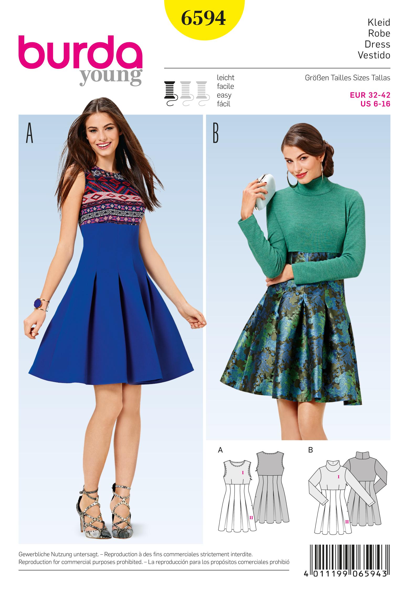 Schnittmuster kleid 42 – Modische Kleider beliebt in Deutschland
